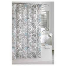 White And Gray Curtains Target paisley shower curtain blue gray kassatex target
