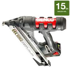 18 Gauge Floor Nailer Home Depot by Senco Fusion 18 Volt 15 Gauge Cordless Angled Nailer 5n0001n The