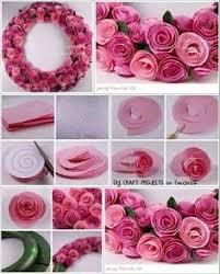 DIY Felt Rose Wreath Diy Craft Crafts Home Decor Easy Ideas Crafty Decorations How To Tutorials Wreaths