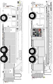 Indiana Fire Trucks: Coloring Pages - Ladders