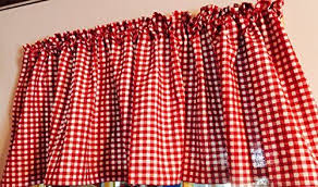 Checkered Flag Window Curtains by New Red And White Gingham 52