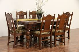 SOLD - English Tudor 1920 Antique Carved Oak Dining Set, Table & 6 ... Sold Country French Carved Oak 1920s Ding Set Table 2 Draw 549 Jacobean Style 8 Pc Room Set Wi Jun 19 Stickley Mission Cherry Collection By Issuu Products Tagged Gustav The Millinery Works Antique Of Six 4 And Ljg A Restored Arts Crafts Bungalow Old House Journal Magazine Of Mahogany Chippendale Style Chairs C 1890 Craftsman On Fiddle Lake Vacation In Ski Amazoncom Michigan Chair Company Hall W1277 Harvey Ellis Nesting Tables Five Fan Back Windsor Bamboo Turned 6 W5000