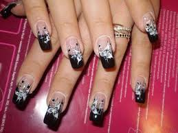 Nail Designs Black Glitter Nails Ideas black tips nails black