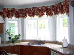 kitchen endearing kitchen curtains bay window adorable for and
