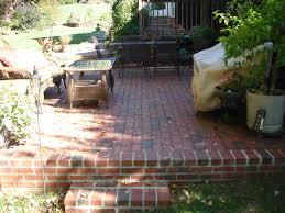 Patio Paver Ideas Houzz by Classic Backyard Patio Ideas With Brick Fireplace Facing Cozy Sofa