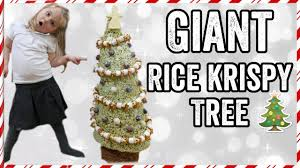 Rice Krispie Christmas Trees Recipe by Giant Rice Krispy Krispmas Tree Youtube