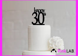 Cake Decor Rustic Happy Birthday Topper All Toppers 30th