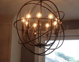ChandelierUnique Rustic Circular Kitchen Chandelier With Bulb Lights Country Lighting Pendant Dining Room Chandeliers