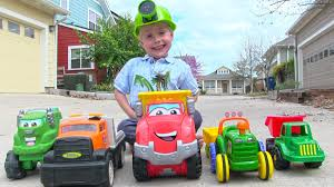 Toy Truck Videos For Children - Toy Dump Truck, Garbage Truck, Tow ...