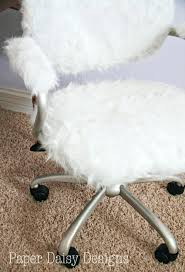 Desk ChairsPbteen Furlicious Chair Egg Inspirations Tufted Fluffy Pbteen Design