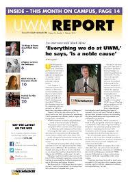 Uwm Sandburg Help Desk by Uwm Report February 2015 By University Of Wisconsin Milwaukee