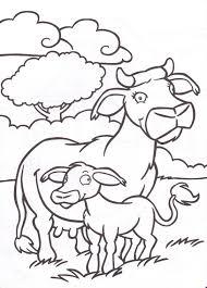20 Dessins De Coloriage Vache Et Veau À Imprimer Dedans Coloriage 55
