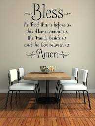 Wall Decor Dining Room Bless The Food Before Us Decal Kitchen Art