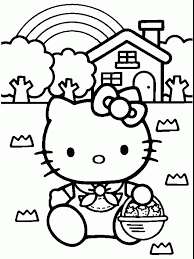 Beautiful Hello Kitty Free Printable Coloring Pages 24 In Gallery Ideas With