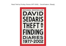 Read Theft By Finding Diaries 1977 2002