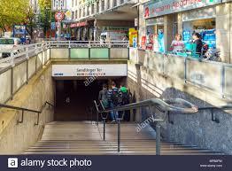 munich germany october 20 2017 tourists entering subway