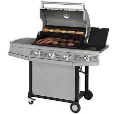 Brinkmann Outdoor Electric Grill by Brinkmann Proseries 8300 58 500 Btu 4 Burner Gas Grill With Side