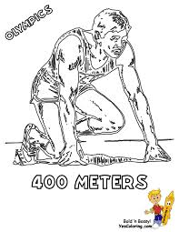 Track Field 400 Meters Olympic Games Coloring At YesColoring