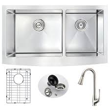 Karran Acrylic Undermount Sinks by Stainless Steel Kitchen Sinks Kitchen The Home Depot
