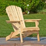 Living Accents Folding Adirondack Chair White by Foldable Adirondack Chairs