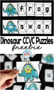 Melissa And Doug Dinosaur Floor Puzzles by Dinosaur Ccvc Puzzles A Dab Of Glue Will Do