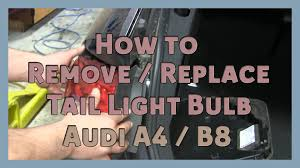 how to remove replace light bulb 2008 2014 audi a4 b8
