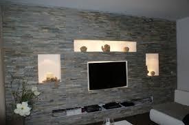 individuelle möbel selber bauen steinwand wohnzimmer