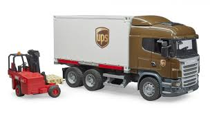 100 Ups Truck Toy Bruder Scania RSeries UPS Logistics With Forklift 03581