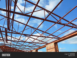 100 House Trusses Steel Roof Image Photo Free Trial Bigstock