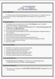 Software Testing Resume Samples 2 Years Experience Luxury Qtp Sample For Testers Manual
