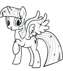 Free Pony Coloring Pages My Little Characters Twilight