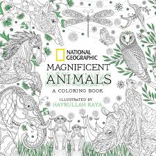 National Geographic Magnificent Animals Coloring Book 9781426218156 Hr