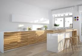 cuisines blanches et bois cuisine blanche et bois clair en photo