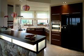 of Kitchens Modern Dark Wood Kitchens