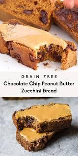 grain free chocolate chip peanut butter zucchini bread 2