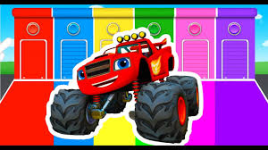 Color Monster Trucks Coloring In Tiny Learning Colors With Truck ...
