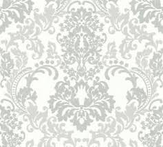 tapete barock weiss grau ornament muster vliestapete