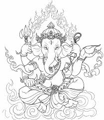 Hindu Elephant Coloring Pages For Adults