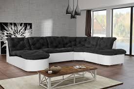 canapé d angle modulable en tissu noir blanc cordoba canapé d