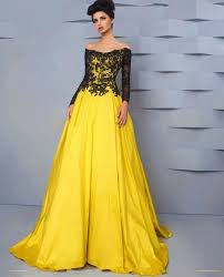 popular yellow evening dress long for pageant buy cheap yellow