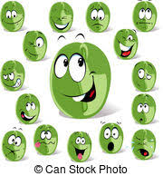 Green Coffee Bean Cartoon