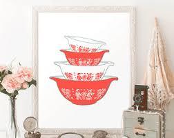 Pomegranate Food Photograph Kitchen Wall Art Red White Decor