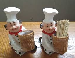 Fat Chef Man Kitchen Decor by Amazon Com Fat Chef Toothpick Holder Kitchen Decoration Home