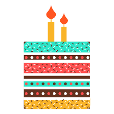 Flat birthday cake icon Transparent PNG