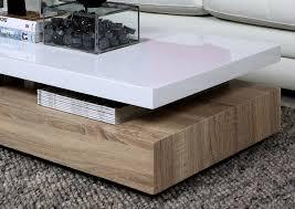 table basse bois et laqué blanc table basse en verre blanc