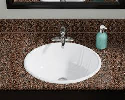 Where Are Decolav Sinks Made by O1815 White White Vessel Drop In Porcelain Bathroom Sink