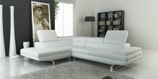 genial ecksofa weiß leder modern white leather sofa