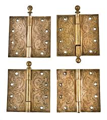 100 Victorian Era Interior Four Matching Largely Intact Antique American Victorian Era Ornamental Cast Bronze Interior Church Door Loose Pin Hinges With Unornamented Ball