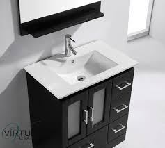 30 Inch Bathroom Vanity With Drawers by Virtu Usa Zola 30 Single Bathroom Vanity Set In Espresso