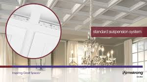 Ceiling Tiles 2x2 Armstrong by Easy Elegance Deep Coffer Ceiling Panels In White Youtube
